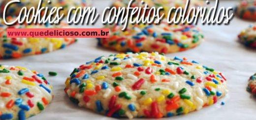 Como fazer deliciosos cookies com confeitos coloridos